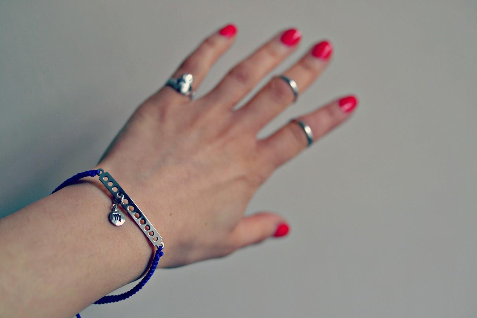 my flash trash star sign bracelet, vintage watch, asos ring
