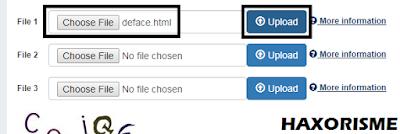Mengupload Script Deface Ke Website Target