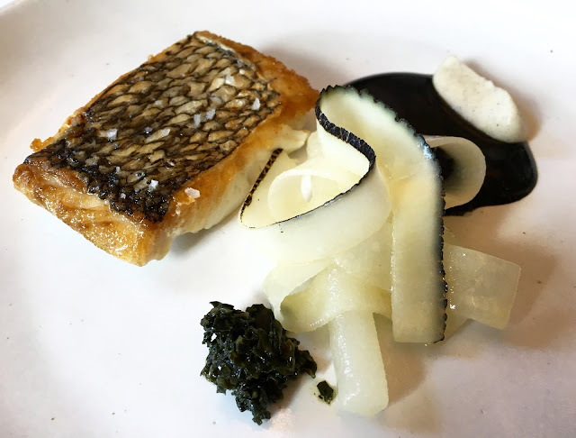 Black Bass with Sesame and Radish