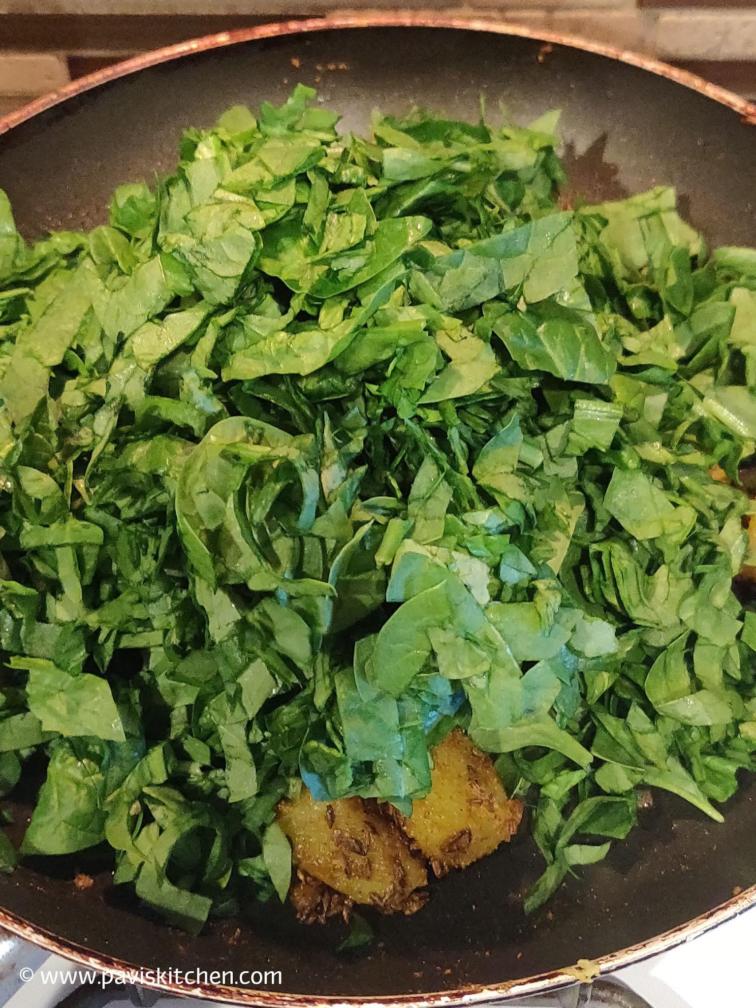 Aloo palak sabji recipe | Palak aloo ki sabji | Punjabi saag aloo recipe | Spinach Potato sabji