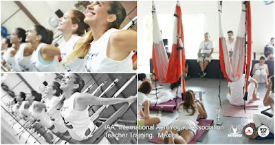 AEROYOGA® INTERNATIONAL OFFICIAL TEACHER TRAINING, FORMACION MAESTROS YOGA AEREO , AIR YOGA MEXICO