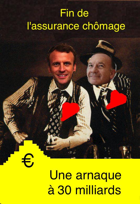 f708d29ba30f78 Macron, en mettant fin au régime assurantiel socialisé de la protection  contre le chômage, dont la cotisation est ...