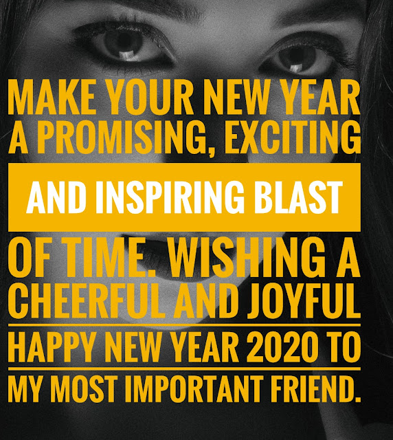 Happy New Year 2020 Wishes for Friends