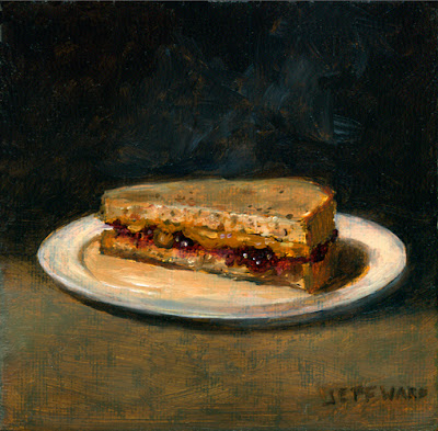 PBJ Sandwich Oil Painting by Jeff Ward