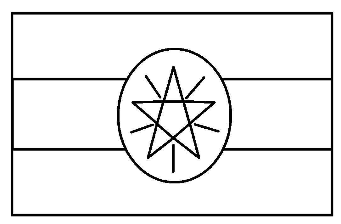 Mewarnai Gambar Sketsa Bendera Negara Ethiopia Flag Nation