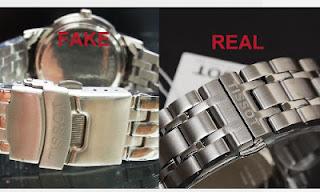 Với đồng hồ chính hãng, các chi tiết khắc dập khá sắc sảo, đồng đều, không bị nhòe