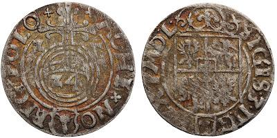 Półtorak z 1627 - Bydgoszcz - z odwróconą (lustrzana) 7 w dacie