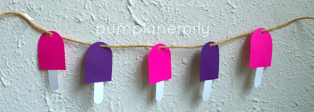 DIY Popsicle Garland