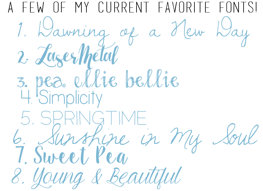 fonts free favorite spring graphics blogging