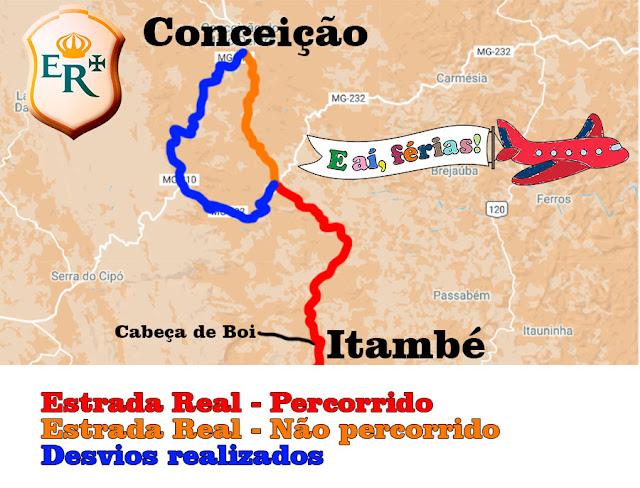 Caminho dos Diamantes, Estrada Real, Itambé do Mato Dentro, Conceição do Mato Dentro, Cabeça de Boi