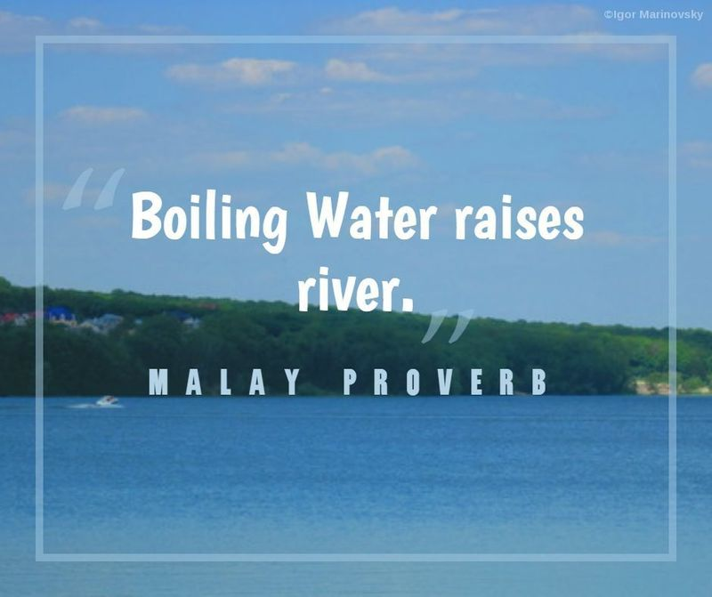Malay proverb about big entertainment