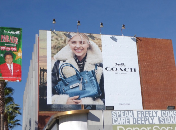 Chloe Grace Moretz Coach 2015 billboard