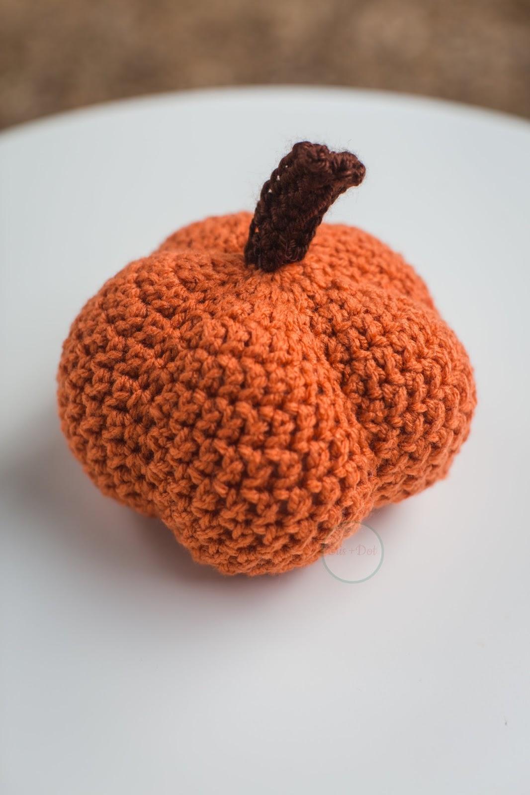 Small Crochet Pumpkin, Stuffed Pumpkin, Rustic, Home Decor, Fall, Autumn, Nature Inspired, Halloween, Thanksgiving, Housewarming, Gift