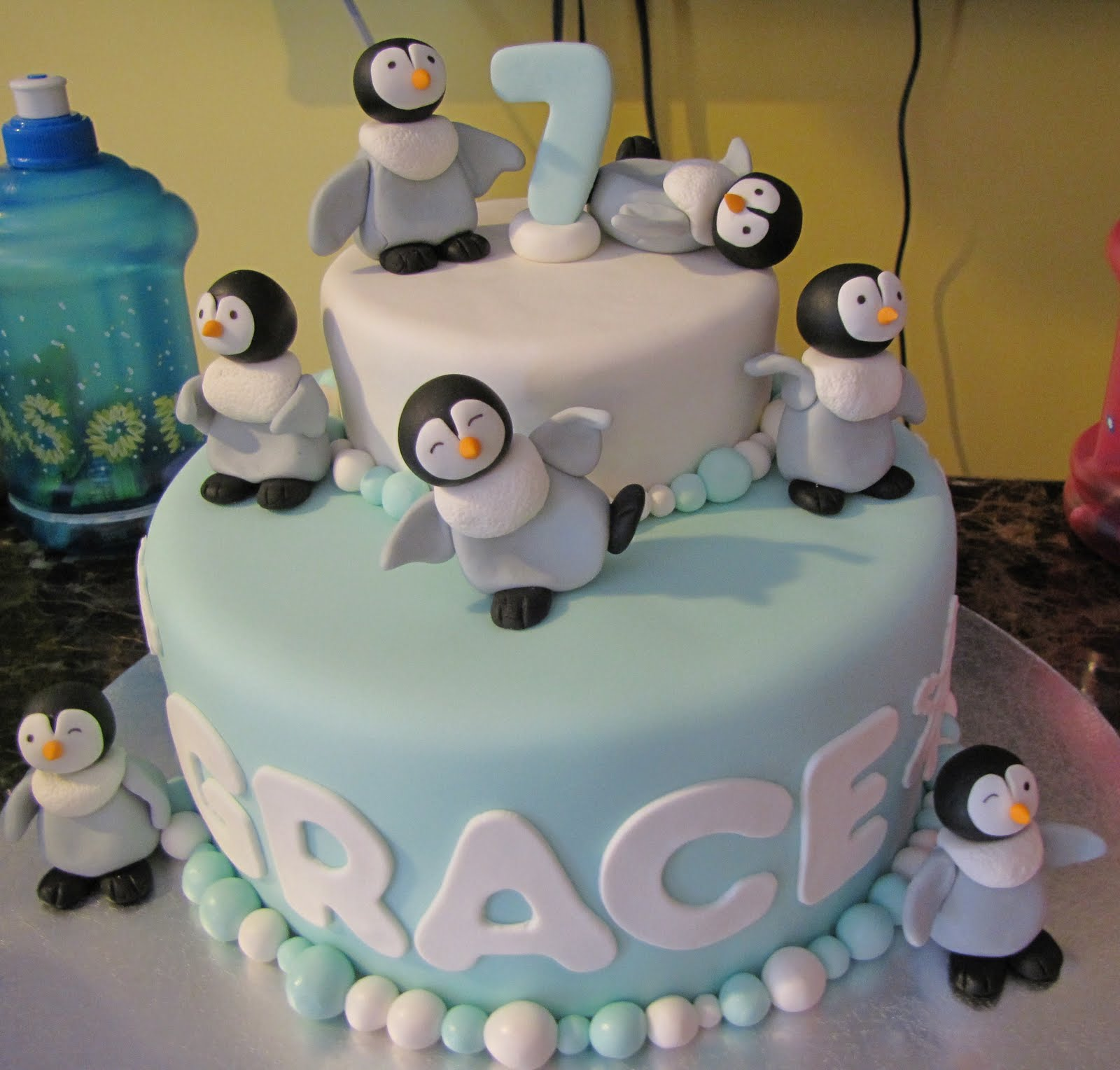 Birthday Cakes For You Penguin Cake