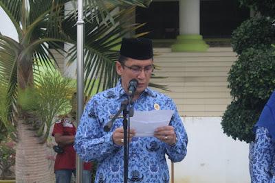 Kakankemenag Tanjungbalai Pimpin Doa Upacara Peringatan HARKITNAS Ke 111