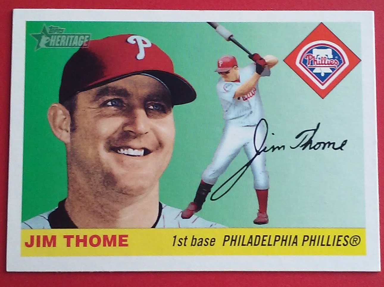 Phungo Topps 1 Club 2004 Heritage Jim Thome And A Short