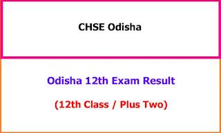 Odisha 12th Class Exam Result 2021