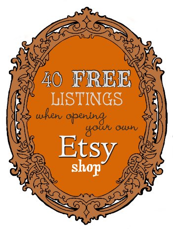 40 free listings when opening an Etsy shop