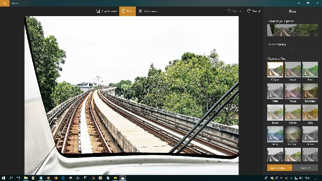 Post-enhancing images on Microsoft Photos