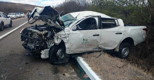 Prefeita de Luiz Gomes é uma das vítimas envolvidas em acidente entre Lajes e Caiçara