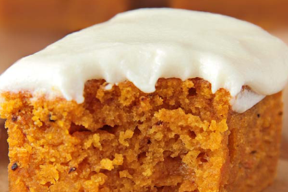 Healthier Pumpkin Bars with Cream Cheese Frosting