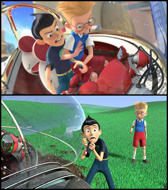 meet the robinsons singing frogs scene hairstyles