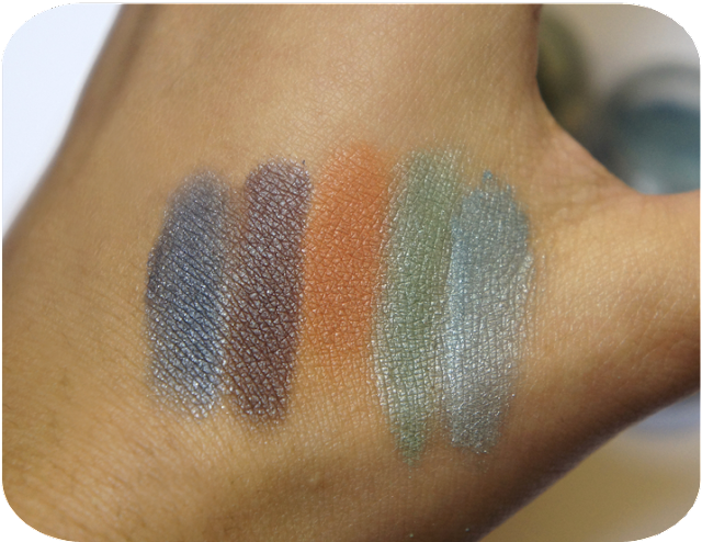 Earthnicity Mineral Eyeshadows Swatches