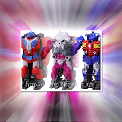 PP-01 Micronus, PP-02 Liege Maximo e PP-03 Vector Prime dalla TakaraTomy x la serie Transformers Power of the Primes