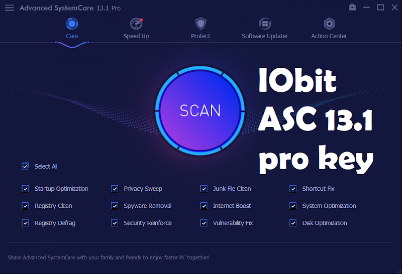 Advanced SystemCare 13.1 Pro License key | Iobit Advanced SystemCare 13.1 Pro | new key | pro key