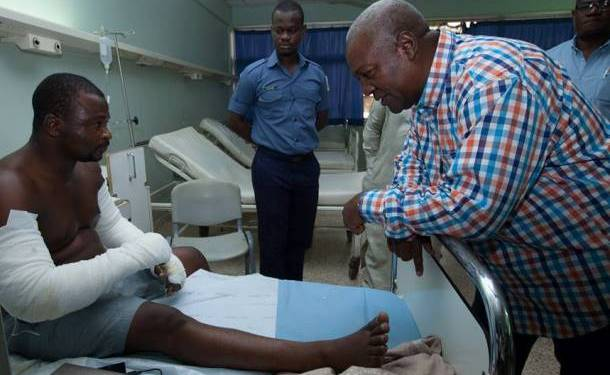 Mahama storms Techiman South to visit victims