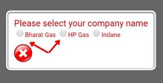 Bharat gas ya hp gas par click kare