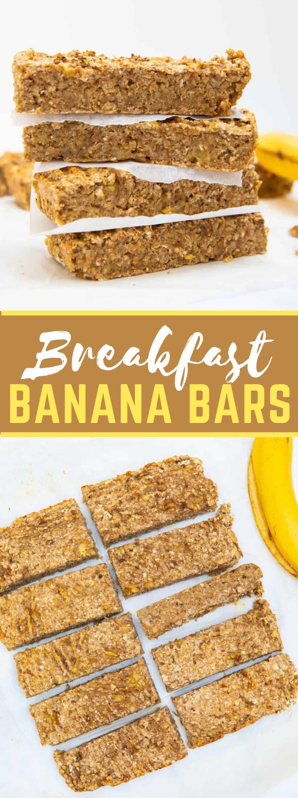 Breakfast Banana Bars #healthy #glutenfree