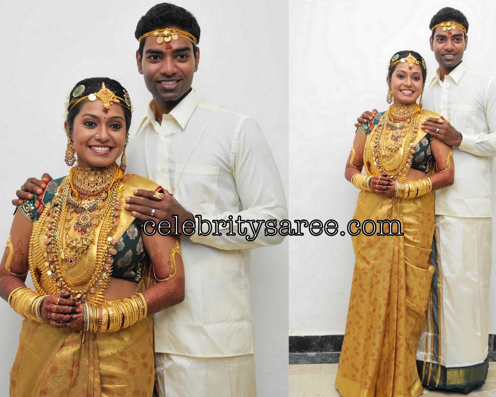 Aparna Pillai Traditonal Saree At Her Wedding Event