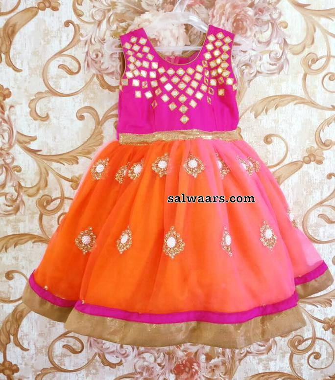 Mirror Frock in Orange Pink