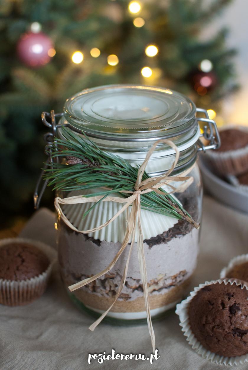 Prezent w słoiku - świąteczne muffiny piernikowe do własnego wypieku