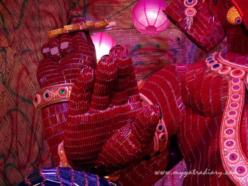 Ganesha Pandal Hopping - Thematic Ganpati made of pencils, Ganesh Chaturthi festival  Mumbai