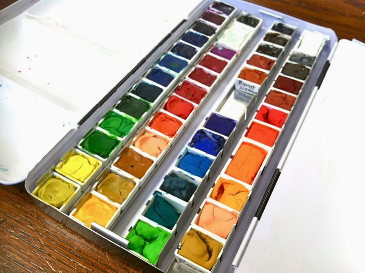 Workspace Wednesday Creating Your Own Watercolor Palette
