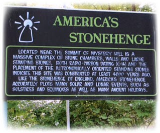 Signage at America's Stonehenge entry