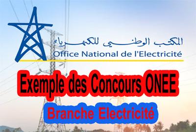 Télécharger Exemple des Concours ONEE-Branche Electricité