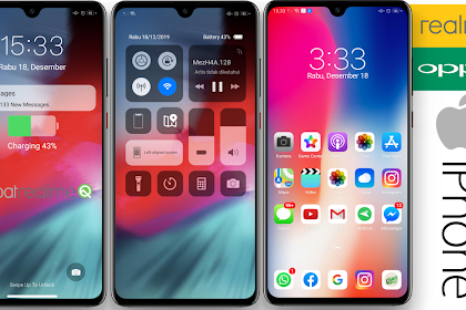 New iPhone UI Premium Themes for OPPO & Realme