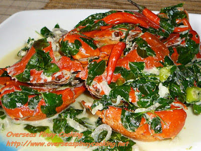 Mud Crabs Cooked with Coconut Milk