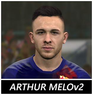 PES 2017 Faces Arthur Melo by BenHussam