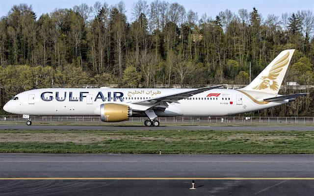 b787-9 gulf air taxiing