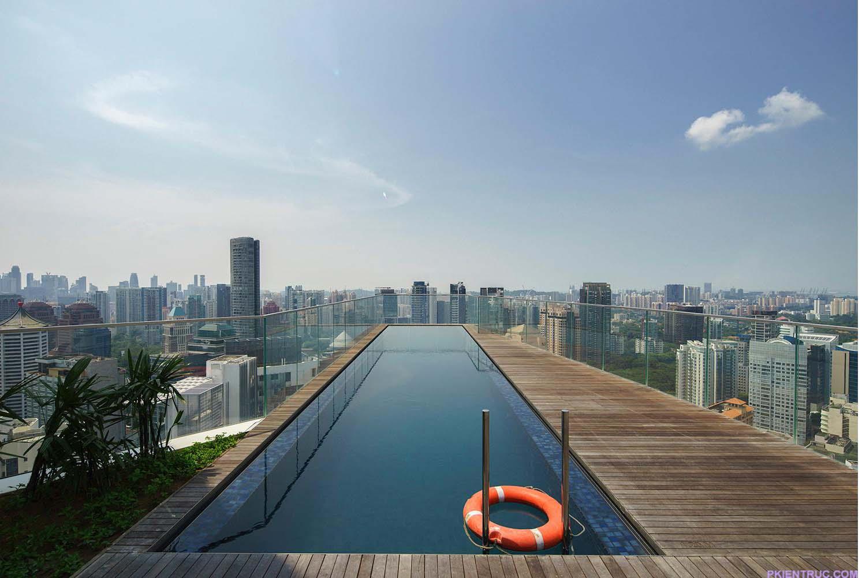 View nhìn từ hồ bơi chung cư Sculptura Ardmore