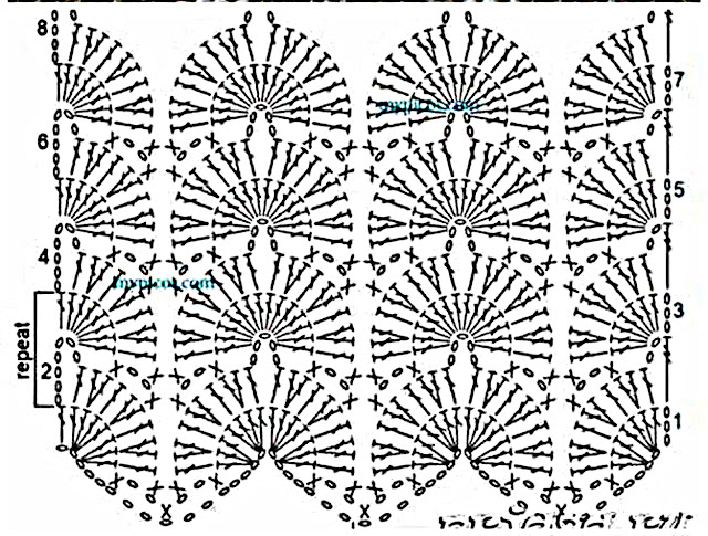 CROCHET Patrón Puntada de dos colores a crochet y ganchillo muy fácil y sencillo. Majovel Crochet.
