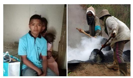 Jadi Tulang Punggung, Bocah 15 Tahun Ini Rela Bekerja Keras demi Hidupi 4 Adik dan Ibunya