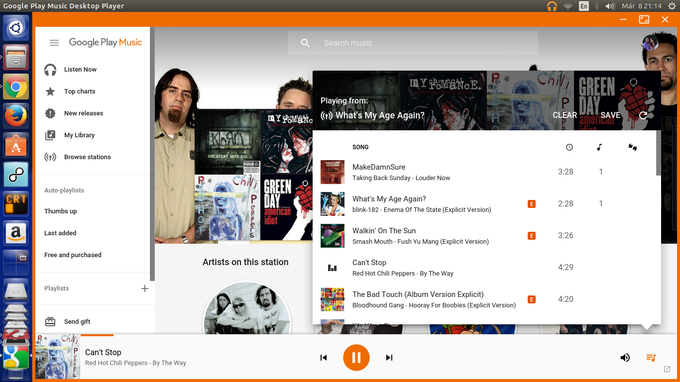 Google Play Music linux desktop client
