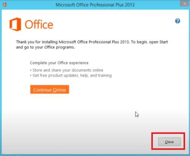 Hướng dẫn cài đặt Word 2013 Professional Plus chi tiết thành công i