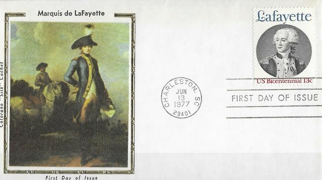 Usa Fdc Marquis De Lafayette