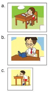 soal posisi membaca yang baik kelas 1
